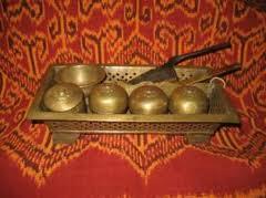 betel box set brass