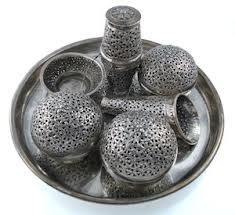 betel box set silver