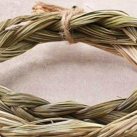 braided sweetgrass circle
